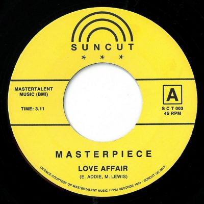 "Masterpiece - We're Gonna Make It / Love Affair 7"" (Suncut Records)"